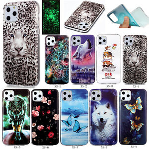 Fashion Luminous Noctilucent Patterned Silicone Soft TPU Back Lot Case Cover XS2