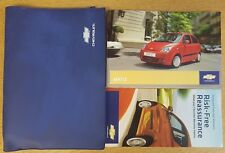GENUINE CHEVROLET MATIZ HANDBOOK OWNERS MANUAL WALLET 2005-2010 ref F-16