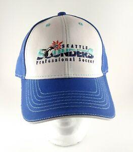 NEW 2021 Seattle Sounders FC Soccer Blue & White Orca Adjustable Cap Hat SGA
