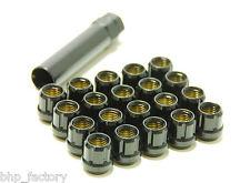 MUTEKI M12 x 1.5 OPEN SPLINED BLACK TUNER WHEEL NUTS PACK OF 20 + KEY Z3102