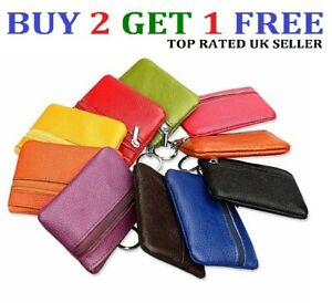Women ladies leather small wallet bag coin purse card holder zip clutch - clrCn