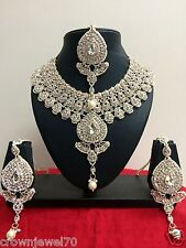 Indian Fashion Bollywood Designer Bridal Jewelry Necklace Set