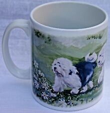 OLD ENGLISH SHEEPDOG OIL PAINTING DESIGN PRINTED MUG SANDRA COEN artist