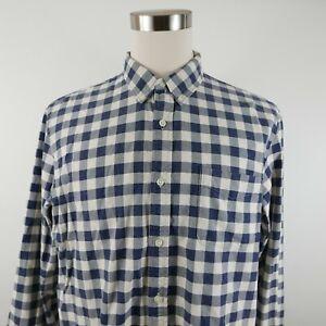 Ralph Lauren Denim & Supply Mens LS Button Down Navy White Checkered Shirt XXL