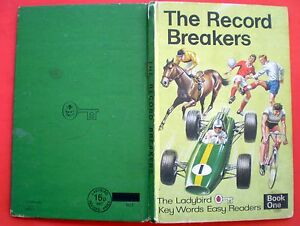 The Record Breakers Ladybird vintage book children reading fun facts school 1970