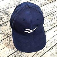 Reebok Mens Baseball Vtg Cap One Size Blue 90s 80s Snapback Hat Logo Euc