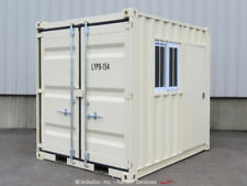 New listing 9' Shipping Storage Container Guard Yard Shack Booth w/Door Window bidadoo -New