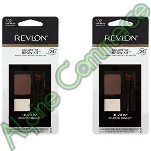 *2-Pack* Revlon ColorStay Brow Kit 102 Dark Brown Wears Up To 24 Hours