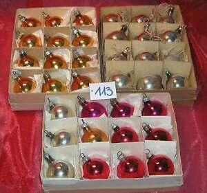 Christbaumschmuck alt 36 x Kugel klein rot gold silber Weihnachtsbaum CBS (KU113
