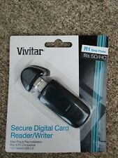 Vivitar USB 2.0 Digital SD Card Reader/writer Mac &PC compatible Fits SD/HD