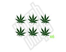 6 cannabis leaf vinyl sticker decal weed pot hash ganja  laptop set leaves 5cm