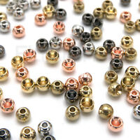 """1//8/"""" 3.2mm TUNGSTEN CYCLOP BEADS Fly Tying Counter Sunk Gold Nickel Black Copper"""