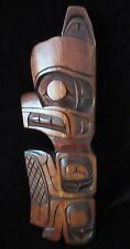 VINTAGE WEST COAST FIRST NATIONS CANADIAN CEDAR BEAVER WALL PLAQUE