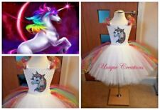 Unbranded Unicorn Sleeveless Dresses (2-16 Years) for Girls