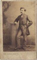 Emille Mourfin ? Foto CDV Cheri Rousseau Saint-étienne Vintage Albumina Ca 1860