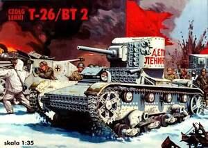 T-26 / BT 2 - WW II SOVIET INFANTRY TANK, LENINGRAD 1942 #35003 1/35 RPM RARE!