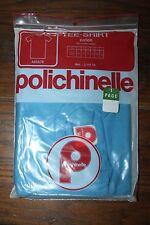 Sous Vêtement - Tee Shirt Homme Polichinelle coton bleu Taille 2 Vintage neuf