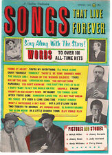 SONGS THAT LIVE FOREVER Magazine Spring 1964 Durante Garland Kaye Dean Como Andy