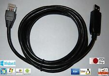 FTDI USB Cisco Rollover RS232 to RJ45 cable, USB serial to RJ45 adapter cable