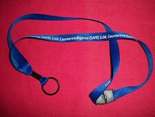 LLNL Counterintelligence Lanyard Keychain Ticket ID Tag Clip Badge Holder Neck