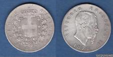 Italie Italia - 5 Lire Vittorio Emanuele 1874 M Milan (1) - Argent Silver