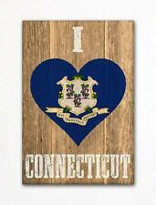 I Love Connecticut Flag Heart Fridge Magnet
