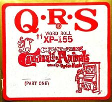 QRS Word Roll CARNIVAL OF THE ANIMALS Part One XP-155 Large Player Piano Roll