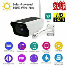 Wireless Solar WiFi IP Camera 1080P HD Security Surveillance Audio CCTV Outdoor
