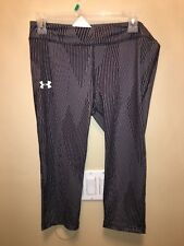 Under Armour Youth Xlarge Heatgear Fitted Black Striped Pants