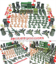 122 pcs Military Playset Plastic Toy Soldiers Army Men 6cm Figures & Accessories