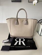 Prada Saffiano Lux Shopping Tote- Pomice/ Argilla Grey