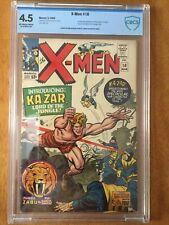 X-Men #10 CBCS 4.5 VG+ (1965) 1st Silver Age App. Ka-Zar, Zabu & Savage Land