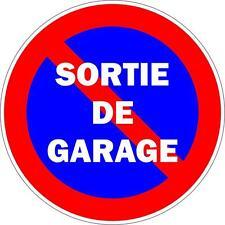 Autocollant sticker portail parking sortie garage stationnement interdit panneau