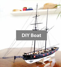 1:100 Scale Wooden Sailboat Halcon 1840 Model Ship life boat Brass