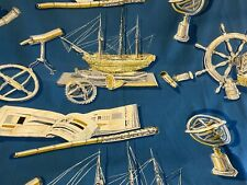 Vintage Curtains PAIR - Nautical Sailing Seafaring - Cotton - Unlined