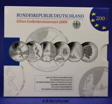 10 Euro - Gedenkmünzenset Silber Deutschland 2009 spiegelglanz PP