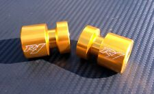 GOLD  R1  Engraved Billet Swingarm Spools / Sliders / Bobbins  6mm  Yamaha  M6