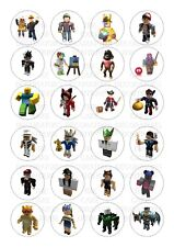 24 Roblox Wafer / Rice Paper Cupcake Topper Edible Fairy Cake Bun Toppers