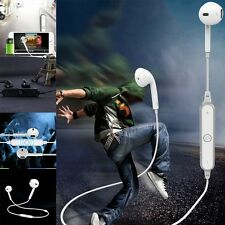 Wireless Bluetooth Earphones Headphones Sport Gym Mic For iPhone 7 Plus