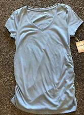 Maternity Essential V - Neck Tee  top  size M  by a glow (Blue)