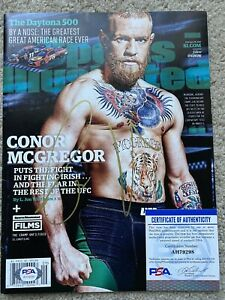 Conor McGregor Signed Sports Illustrated UFC MMA Autographed PSA Authenticated