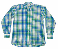Coastal Cotton Clothing Mens Button Front Checks Shirt Multicolor Size Large