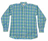 Coastal Cotton Clothing Mens Button Front Checks Shirt Multicolor Size Large