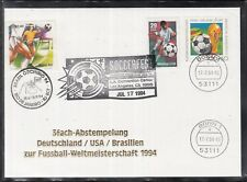 C 26 ) Germany Brasil USA fantastic 3 State Cover 1994 - Soccer Worldcup