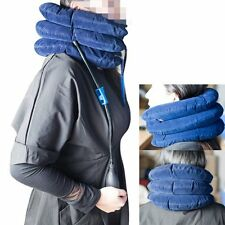 FDA CE Inflatable Cervical Neck Back Traction Neck Head Pain Relief Collar Blue