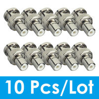 ZOSI 10Pcs BNC Male to RCA Female Coax Coaxial Connector Adapter for CCTV camera