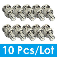 ZOSI 10Pcs BNC Male to RCA Female Adapter  Compression Connector for CCTV camera