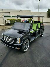 2012 ACG black Cadillac Escalade custom limo Golf Cart 6 passenger seat
