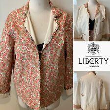 ROSALIE LANE,LIBERTY OF LONDON 1970s HandmadeCotton Floral Reversible Jacket M-L