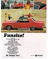 1965 DODGE Dart Red 2-door Coupe Vtg Print Ad